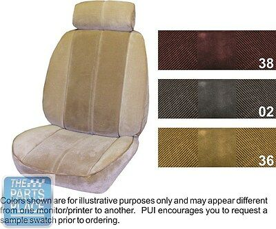 1984-86 Camaro Deluxe Maroon Front Buckets Seat Covers - PUI