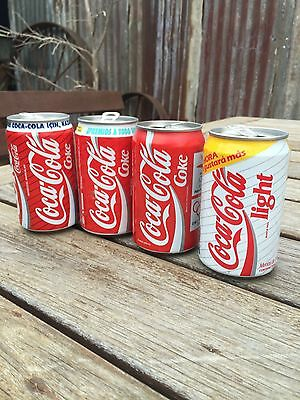 4 X Collectable International 330Ml Coca Cola Cans Coke Cans