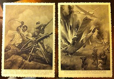 Two War Postcards year 1930 not colured and not stamped or used