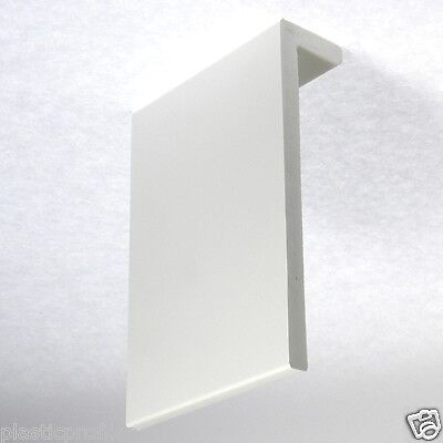WHITE UPVC PVC PLASTIC SKIRTING BOARD COVER VARIOUS WIDTHS AVAILABLE 1 X 2.5m