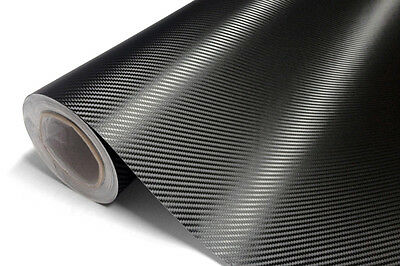 Carbonio Nero 4D Racing Pellicola Adesiva Car Wrapping 130cm x 100cm NO BOLLE !!