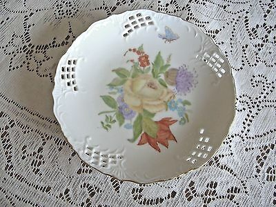 VTG Collector plate one of a kind fine china hand painted decorator plate floral