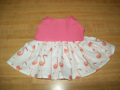 """WHITE SNOWFLAKES DRESS W// SNOWFLAKE BUTTON for 15-17/"""" CPK Cabbage Patch Kids"""