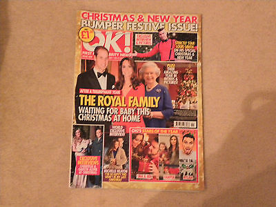 OK MAGAZINE ISSUE 859 JAN 1 2013 CHRISTMAS AND NEW YEAR BUMPER FESTIVE ISSUE