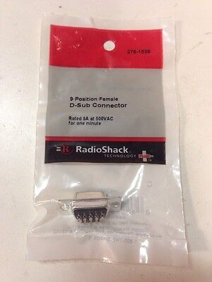 9•Position•Female D-Sub Connector #276-1538 By RadioShack