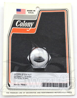 Stem Nut Colony Acorn Style - Chrome 7009-1