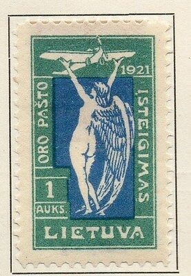 Lithuania 1921 Early Issue Fine Mint Hinged 1a. 134365