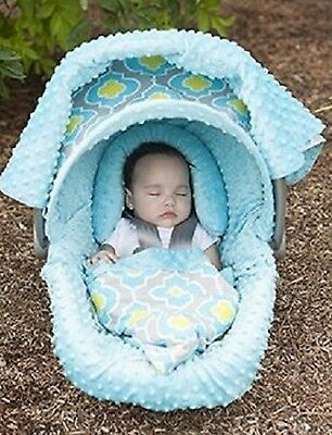 The Whole Caboodle Carseat Canopy Baby Car Seat Cover 5 Pc Set New ~ Kennedy ~
