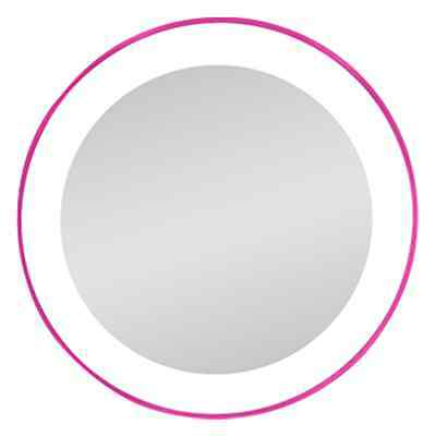 Zadro Next Generation® LED Lighted Spot Mirror 10X Mag. LED10X Suction Cup Pink