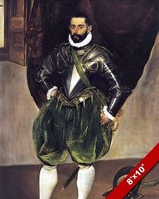 Knight Of Rhodes Vincenzo Anastagi In Armor Portrait Painting Art CanvasPrint