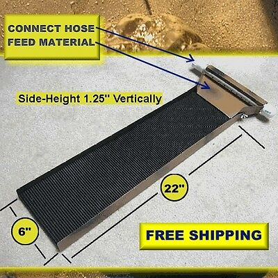 Gold mining paydirt sluice box, prospecting panning sluicing high banking SALE