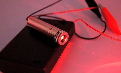High Power Focusable 650nm 200mW Red Laser Dot Module/with battery case