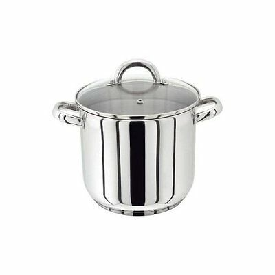 Horwood Judge Pp82 Stainless Steel Deep Stock Pot 24Cm Stockpot Glass Lid 8.5L