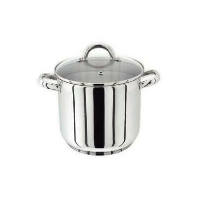 Horwood Homewares PP80 20cm 5 Litre Stockpot with Glass Lid, Silver