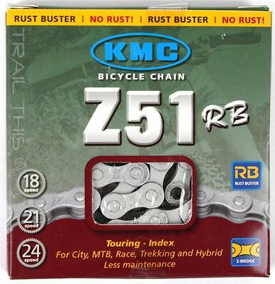 "KMC Z51RB Rust Buster 5,6,7,8-Speed 3/32"" Winter Bicycle Chain fits SRAM Shimano"