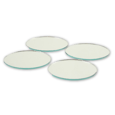 2 Inch Glass Craft Mini Small Round Mirrors Bulk 100 Pieces Mosaic Mirror Tiles
