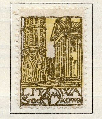 Central Lithuania 1920 Early Issue Fine Mint Hinged 4m. 134597