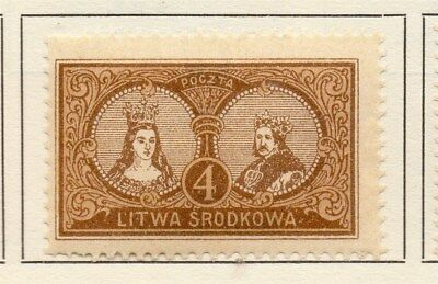 Central Lithuania 1921 Early Issue Fine Mint Hinged 4m. 134619
