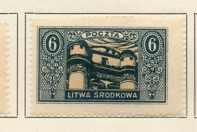 Central Lithuania 1921 Early Issue Fine Mint Hinged 6m. 134620