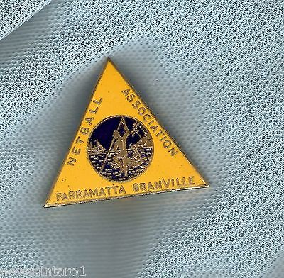 #d164.  Parramatta Grandville  Netball Association  Lapel  Badge