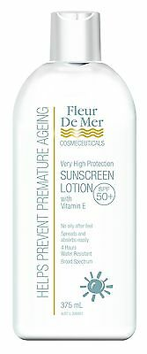 Fleur De Mer SPF50+ CLEAR BODY SIZE 375ML 4 flawless beautiful PROTECTED skin