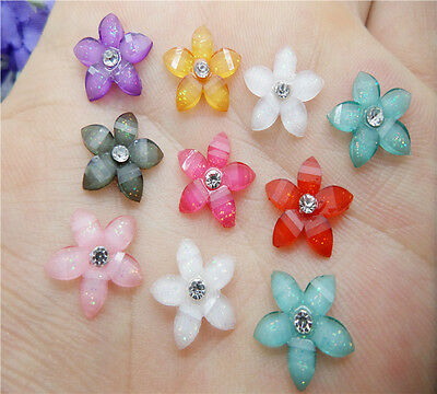 NEW DIY 20pcs 12mm resin flowers flatback Scrapbooking for phone/wedding, Crafts