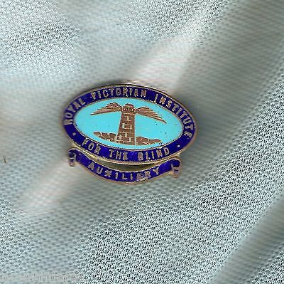 #d165.  Royal Victorian Institute For The Blind  Lapel  Badge