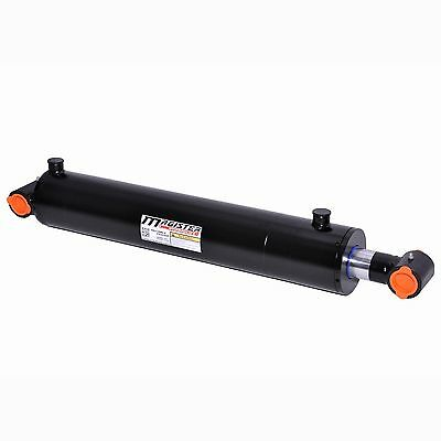 "Hydraulic Cylinder Welded Double Acting 4"" Bore 20"" Stroke Cross Tube 4x20 NEW"