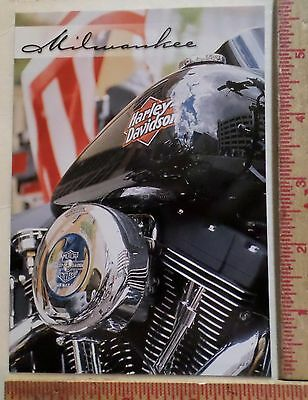 Harley factory Milwaukee Wi ad postcard collectible old motorcycle biker card