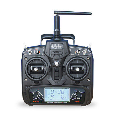 New Walkera DEVO 7 2.4G 7CH LCD Screen Radio Transmitter for Helicopter UK STOCK
