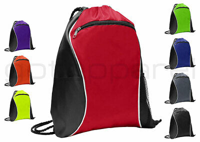 String Drawstring Backpack Cinch Sack Gym Tote Bag School Sport Pack. BG613