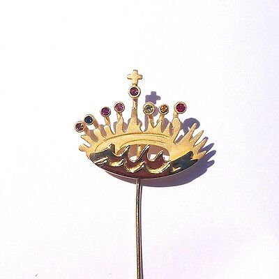 Silver Pin / Brooch in 18kt Gold by Salvador Dali