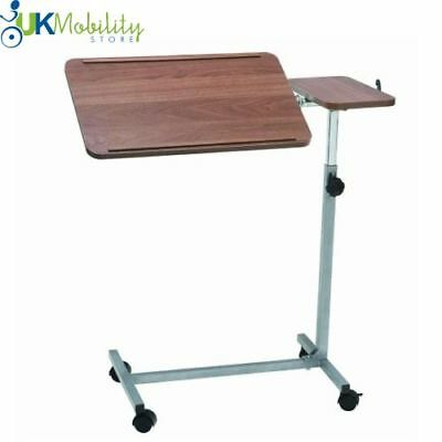 Over Bed Chair Table 4 Castors Twin Top