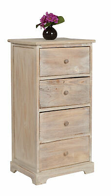anrichte schmal flur kommode 7 schubladen bad schrank holz massiv braun kolonial eur 339 00. Black Bedroom Furniture Sets. Home Design Ideas