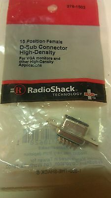 15 Position Female D-Sub Connector High-Density #276-1502 by RadioShack