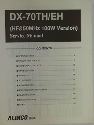 Alinco service manual for DX-70TH