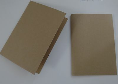 20 x A5 SCORED/ FOLDED CARDS in Kraft Brown
