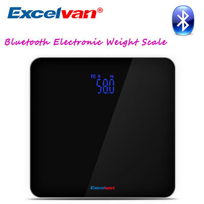 Excelvan Wireless Bluetooth Digital 180 KG Smart Health Electronic Weight Scale