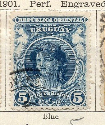 Uruguay 1901 Early Issue Fine Used 5c. 135237