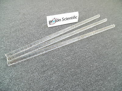 3 x 200mm Glass Stir Rods Laboratory Glassware