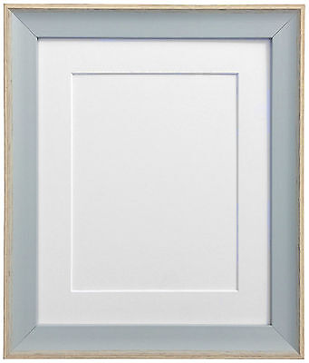 Beach Hut Blue Picture Photo Frames with Black White Ivory Pink or Blue Mounts