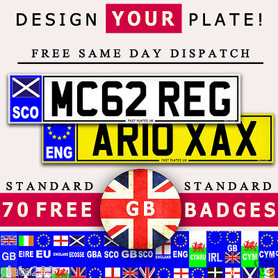 Pair Quality Car Number Plates And Show Plates 100% Road Legal Design Here Now..