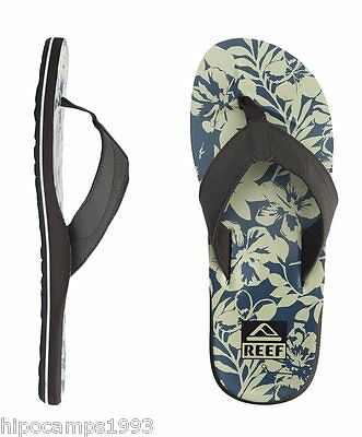 Chanclas Reef HT Prints Taupe Blue Floral flip flops infradito tongs