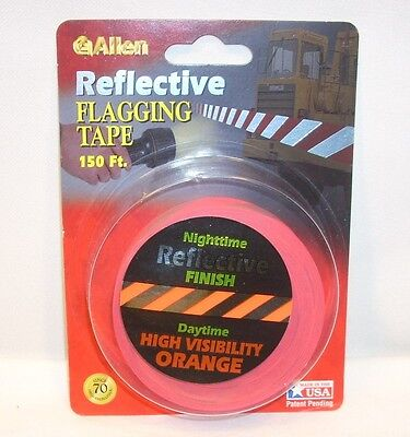 Allen Trail Marking Tape 150' Reflective ORANGE Hunting Hiking Construction