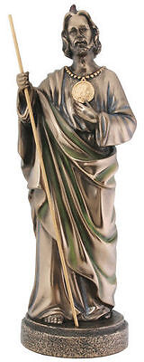 Large St. Jude the Apostle w/ Amulet Statue Christian Sculpture RELIGIOUS DECOR