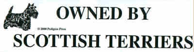 Owned By Scottish Terriers Dog Bumper Sticker SALE