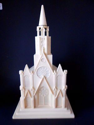 Vintage Raylite Electric Corp. Plastic Musical Church Plays Silent Night
