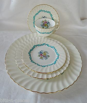 MINTON china ARDMORE #5363 5 pc Place Setting Dinner Salad Side Cup Saucer #1