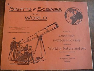 1894 Sights and Scenes of the World #12 photographic views