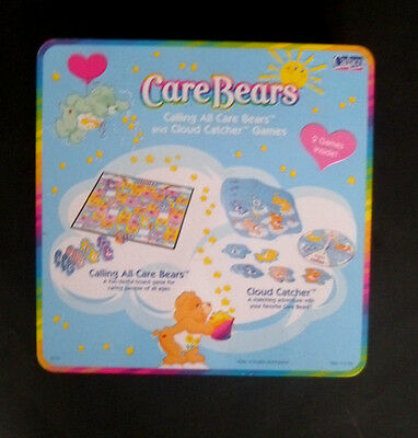 """Care Bears Calling All Care Bears Board Game ~ Cadaco 2003 """" ~ In a Tin"""